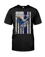 Bald Eagle Back the Blue Support Police shirt Classic T-Shirt front