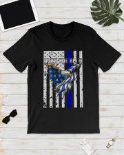 Bald Eagle Back the Blue Support Police shirt Classic T-Shirt lifestyle-mens-crewneck-front-17