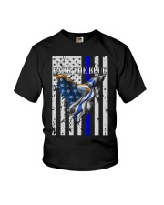 Bald Eagle Back the Blue Support Police shirt Youth T-Shirt thumbnail