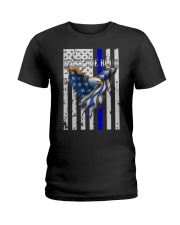 Bald Eagle Back the Blue Support Police shirt Ladies T-Shirt thumbnail