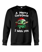 Baby Yoda A Merry Christmas I wish you shirt Crewneck Sweatshirt thumbnail