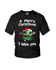 Baby Yoda A Merry Christmas I wish you shirt Youth T-Shirt thumbnail