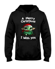 Baby Yoda A Merry Christmas I wish you shirt Hooded Sweatshirt thumbnail