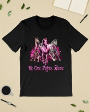 Horses breast cancer no one fights alone shirt Classic T-Shirt lifestyle-mens-crewneck-front-19