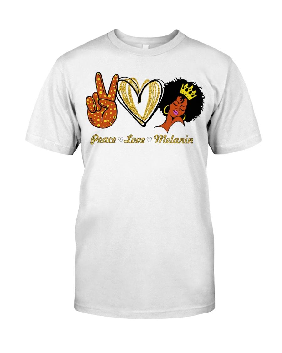 Peace love melanin shirt Classic T-Shirt