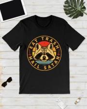 Racoon Eat Trash Hail Satan shirt Classic T-Shirt lifestyle-mens-crewneck-front-17