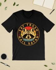 Racoon Eat Trash Hail Satan shirt Classic T-Shirt lifestyle-mens-crewneck-front-19