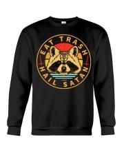 Racoon Eat Trash Hail Satan shirt Crewneck Sweatshirt thumbnail