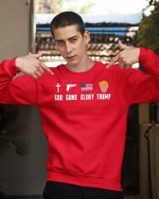 God Guns Glory Trump shirt Crewneck Sweatshirt apparel-crewneck-sweatshirt-lifestyle-04