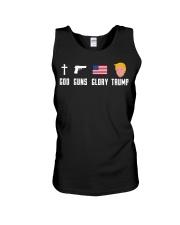 God Guns Glory Trump shirt Unisex Tank thumbnail