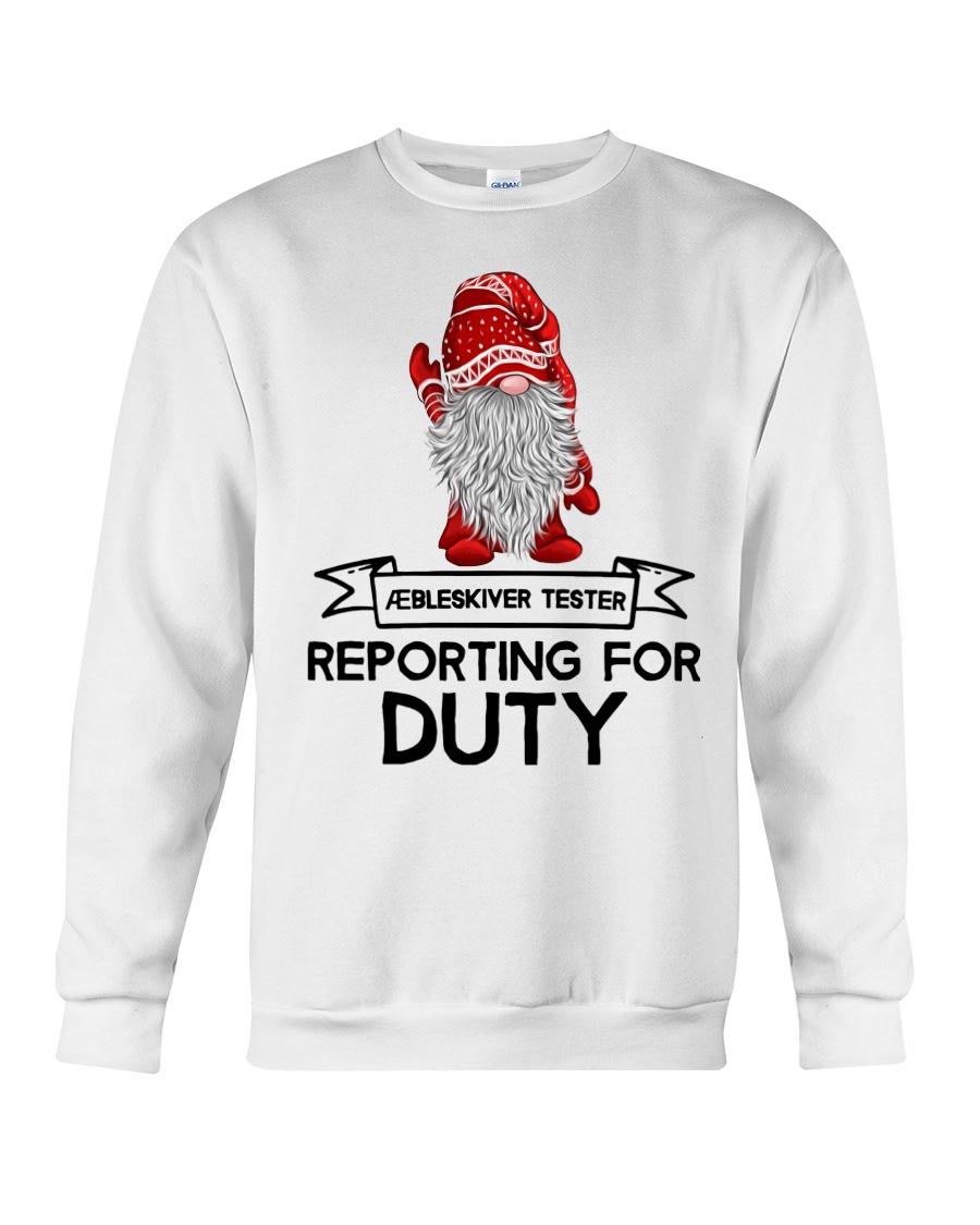 Gnomies Aebleskiver Tester Reporting for Duty Crewneck Sweatshirt