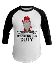 Gnomies Aebleskiver Tester Reporting for Duty Baseball Tee thumbnail