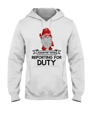 Gnomies Aebleskiver Tester Reporting for Duty Hooded Sweatshirt thumbnail