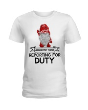 Gnomies Aebleskiver Tester Reporting for Duty Ladies T-Shirt thumbnail