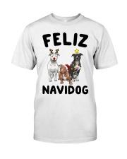 Feliz Navidog Pit Bull Christmas Classic T-Shirt thumbnail