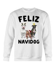 Feliz Navidog Pit Bull Christmas Crewneck Sweatshirt front