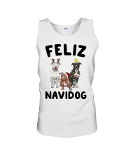 Feliz Navidog Pit Bull Christmas Unisex Tank thumbnail