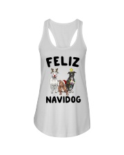 Feliz Navidog Pit Bull Christmas Ladies Flowy Tank thumbnail