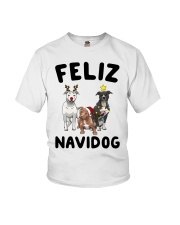 Feliz Navidog Pit Bull Christmas Youth T-Shirt thumbnail