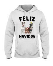 Feliz Navidog Pit Bull Christmas Hooded Sweatshirt tile