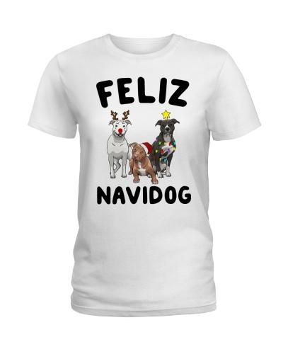 Feliz Navidog Pit Bull Christmas