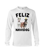 Feliz Navidog Pit Bull Christmas Long Sleeve Tee thumbnail