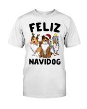 Feliz Navidog Shetland Sheepdogs Christmas Classic T-Shirt thumbnail