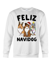 Feliz Navidog Shetland Sheepdogs Christmas Crewneck Sweatshirt front