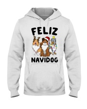 Feliz Navidog Shetland Sheepdogs Christmas Hooded Sweatshirt thumbnail