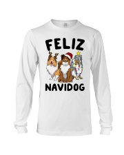 Feliz Navidog Shetland Sheepdogs Christmas Long Sleeve Tee thumbnail