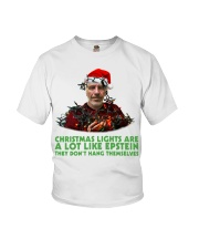 Christmas lights are a lot like Epstein shirt Youth T-Shirt thumbnail