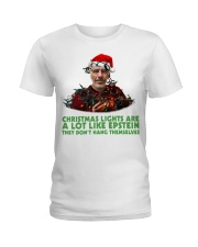Christmas lights are a lot like Epstein shirt Ladies T-Shirt thumbnail