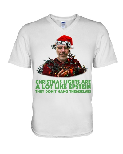 Christmas lights are a lot like Epstein shirt