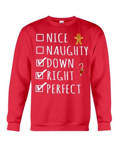 Nice Naughty Down Right Perfect shirt