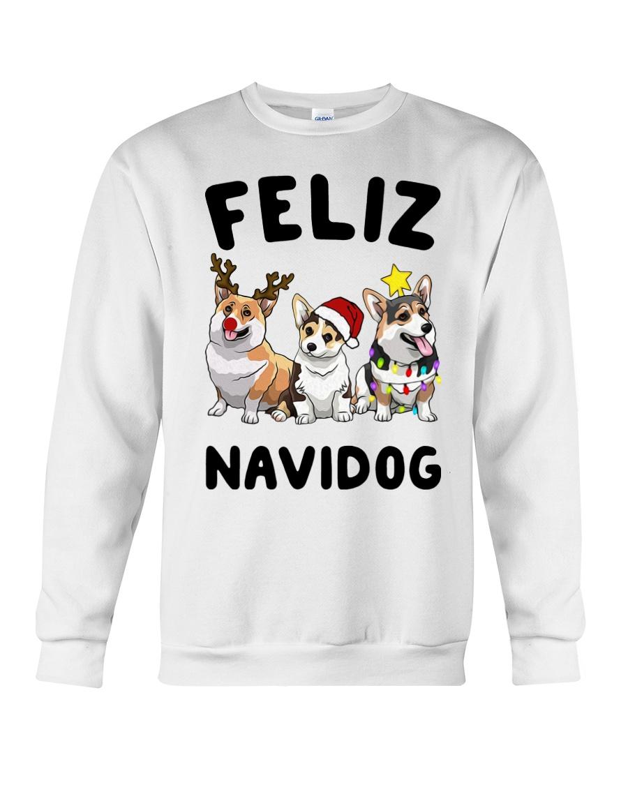 Feliz Navidog Corgi Christmas Crewneck Sweatshirt