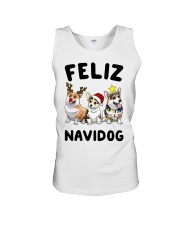 Feliz Navidog Corgi Christmas Unisex Tank thumbnail