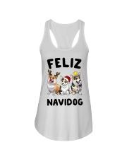 Feliz Navidog Corgi Christmas Ladies Flowy Tank thumbnail