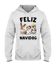 Feliz Navidog Corgi Christmas Hooded Sweatshirt tile
