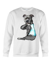 Pitbull Tattoo I love Dad shirt Crewneck Sweatshirt thumbnail