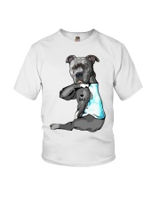 Pitbull Tattoo I love Dad shirt Youth T-Shirt thumbnail
