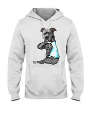 Pitbull Tattoo I love Dad shirt Hooded Sweatshirt thumbnail