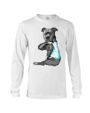 Pitbull Tattoo I love Dad shirt Long Sleeve Tee thumbnail