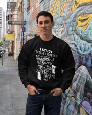 I study triggernometry shirt Crewneck Sweatshirt lifestyle-unisex-sweatshirt-front-2