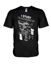 I study triggernometry shirt V-Neck T-Shirt thumbnail