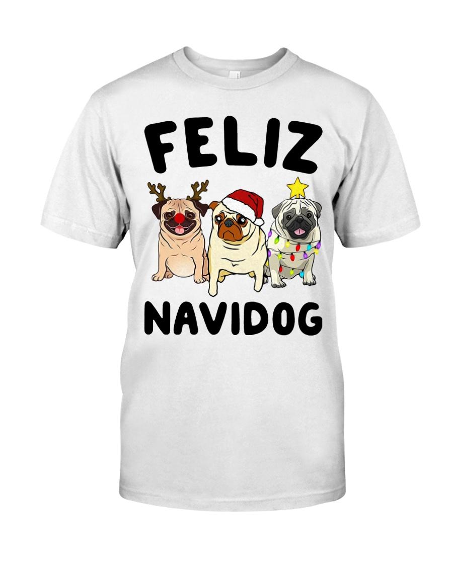 Feliz Navidad Pug Christmas Classic T-Shirt