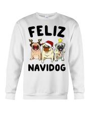 Feliz Navidad Pug Christmas Crewneck Sweatshirt thumbnail