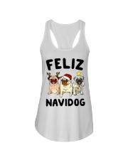 Feliz Navidad Pug Christmas Ladies Flowy Tank thumbnail
