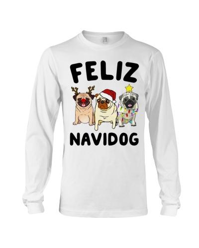 Feliz Navidad Pug Christmas