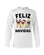 Feliz Navidad Pug Christmas Long Sleeve Tee thumbnail