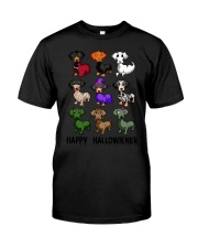 Happy Hallowiener breed of dog shirt Classic T-Shirt front